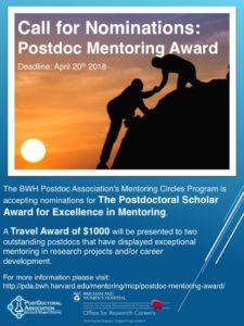 MCP Mentor Award Flier